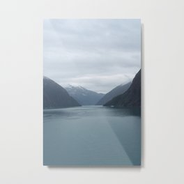 Looking Out Tracy Arm Fjord Metal Print