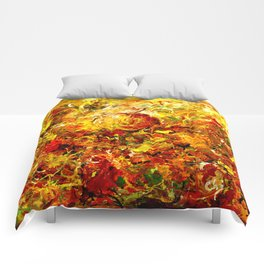 Watercolor Abstract Autumn  Comforters