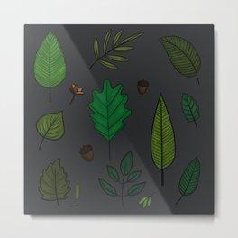 La forêt et ses feuilles Metal Print