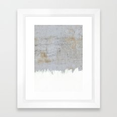 Painting on Raw Concrete Framed Art Print