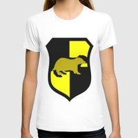 hufflepuff T-shirts featuring Hufflepuff Crest by Electric Unicorn
