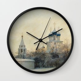 Church in Winter Estate Wall Clock