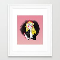 50s Framed Art Prints featuring 50s Rebel by Rebecca Span
