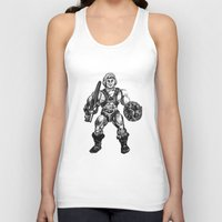 he man Tank Tops featuring HE-MAN by Furry Turtle Creations