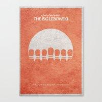 big lebowski Canvas Prints featuring The Big Lebowski by Ayse Deniz