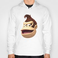 donkey kong Hoodies featuring Triangles Video Games Heroes - Donkey Kong by s2lart
