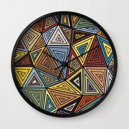Triangle Madness Wall Clock
