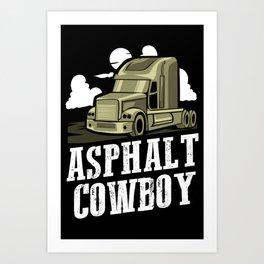 Asphalt Cowboy | Trucker Art Print