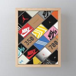 Sneaker Box Framed Mini Art Print