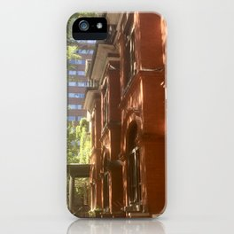 Shadows On Brownstone iPhone Case