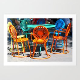 Colorful Chairs of Union Terrace - University of Wisconsin, Madison Art Print