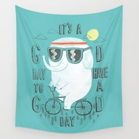 ilovedoodle Wall Tapestries featuring It's a good day to have a good day by I Love Doodle