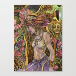 Dreams Bloom in the Night Canvas Print