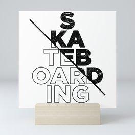 Skateboarding Mini Art Print