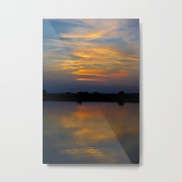 Warm sunset with a touch of blue Metal Print
