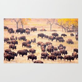 Buffalo Roundup at Custer State Park Rug