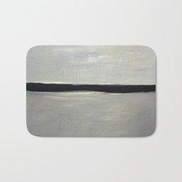 Grey with Black Stripe Bath Mat