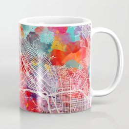 Burbank map California painting 2 Coffee Mug