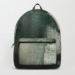 Last Kiss: a minimal, abstract watercolor piece in greens Backpack