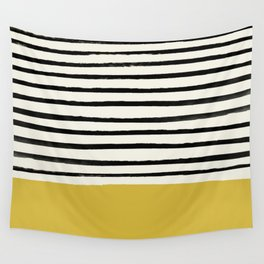 Mustard Yellow & Stripes Wall Tapestry
