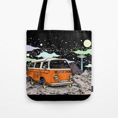 Moon Ride Color Tote Bag