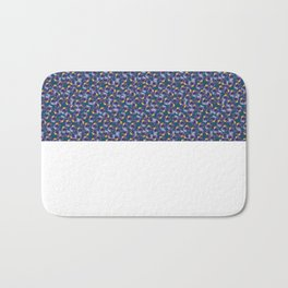 Blue tulip Bath Mat