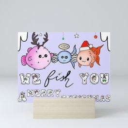 Fishy christmas Mini Art Print