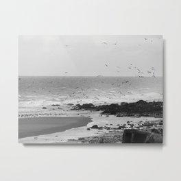 Beach, Calais, France. Metal Print