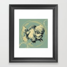 Bubble Head Fish Framed Art Print