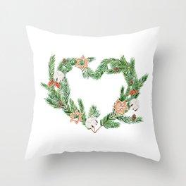 Nordic wreath Throw Pillow