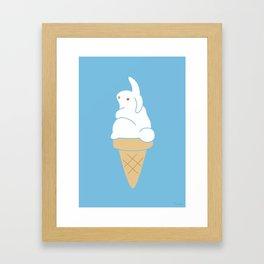 Icecream Bunny Framed Art Print