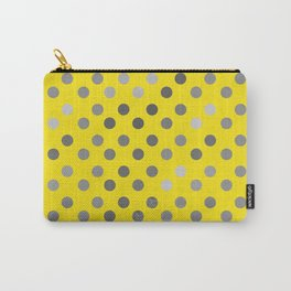 Polka Proton Yellow Carry-All Pouch