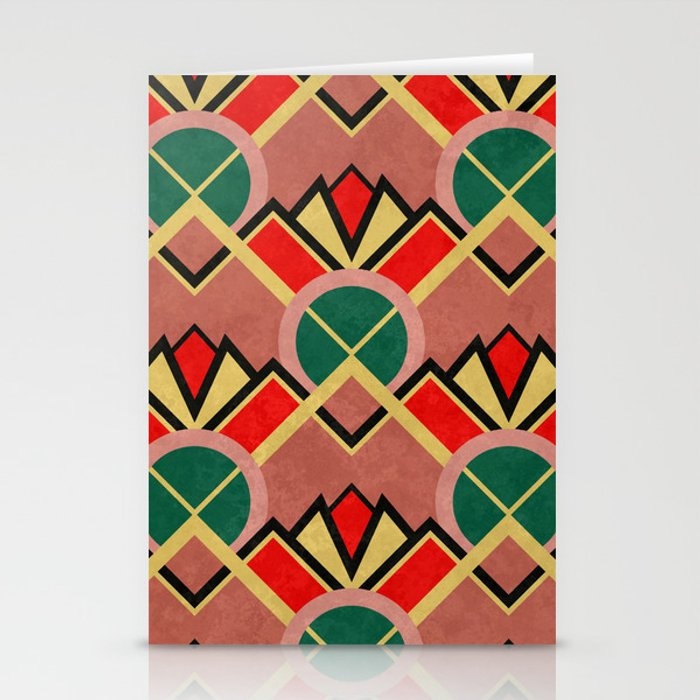 Art Deco Movie Theater Carpet Pattern Stationery Cards
