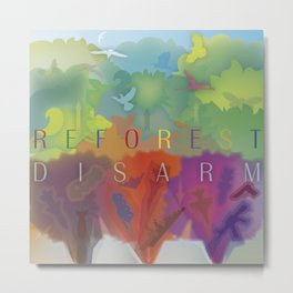 Color Forest Metal Print