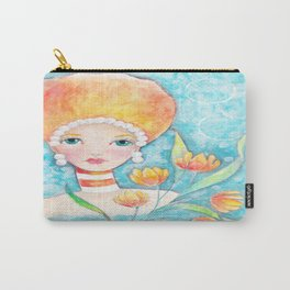Whimiscal Big Hair Girl Carry-All Pouch