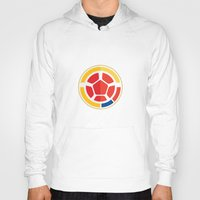 colombia Hoodies featuring WORLDCUP IS COMING! - COLOMBIA by Andres Corredor