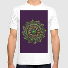 Deep Purple MEDIUM White Mens Fitted Tee