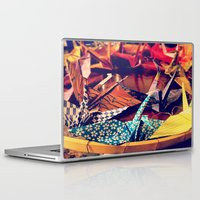 crane Laptop & iPad Skins featuring Crane  by Francessca.n.Angel