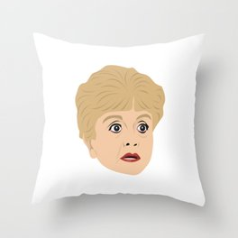 Angela Lansbury as Jessica Fletcher from Murder She Wrote Throw Pillow