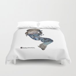 Volodia Рыба and the rhinolot Duvet Cover
