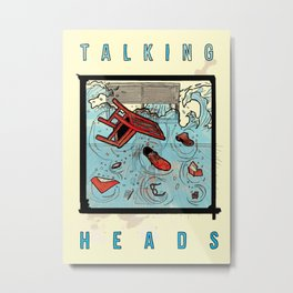 Talking Heads Limited Edition Music Poster Print Metal Print