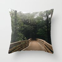 hiking Throw Pillows featuring Hiking by Lynette