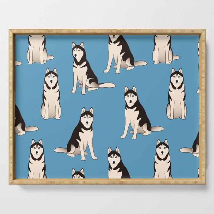 Husky Dogs Serving Tray