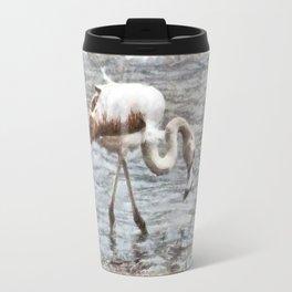 Knee Deep Flamingo Watercolor Travel Mug