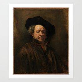 Rembrandt van Rijn - Self-portrait Art Print
