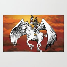 Boba Fett riding Pegasus Rug