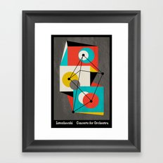 Lutoslawski Concerto for Orchestra Framed Art Print
