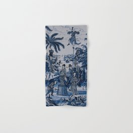 17th Century Delftware Chinoiserie Hand & Bath Towel