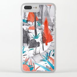 And the Children, They Know - Orange Clear iPhone Case