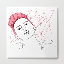 Miley We Cant Stop Metal Print
